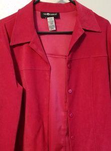 Sag Harbor size 10  blazer dark pink suede